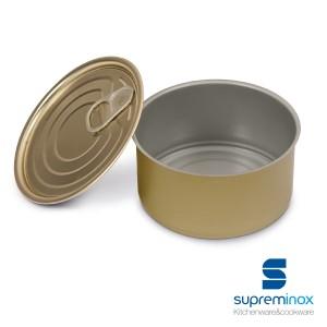 latas de conserva redondas para alimentos