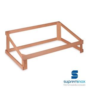 alzador con estructura cajas de madera