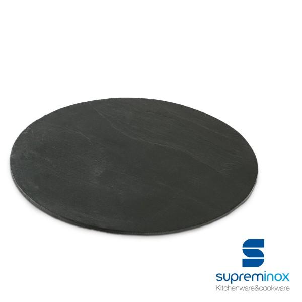 bandeja pizarra natural redonda