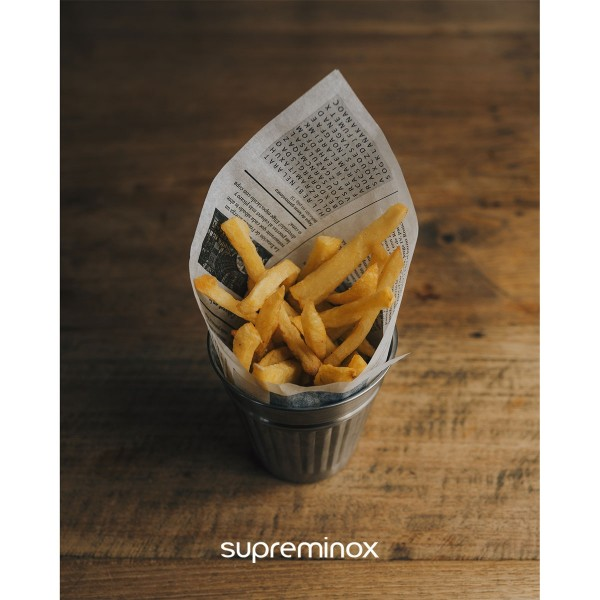 mini papeleras chips inox