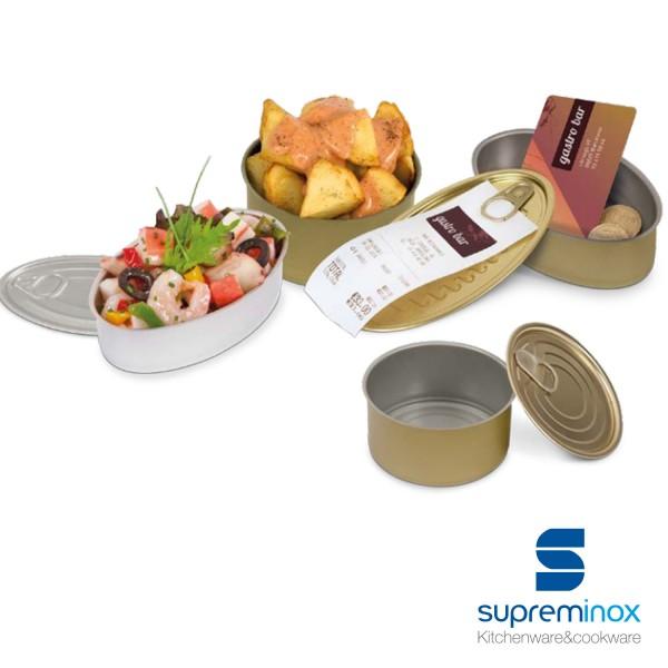 latas de conserva ovaladas para alimentos