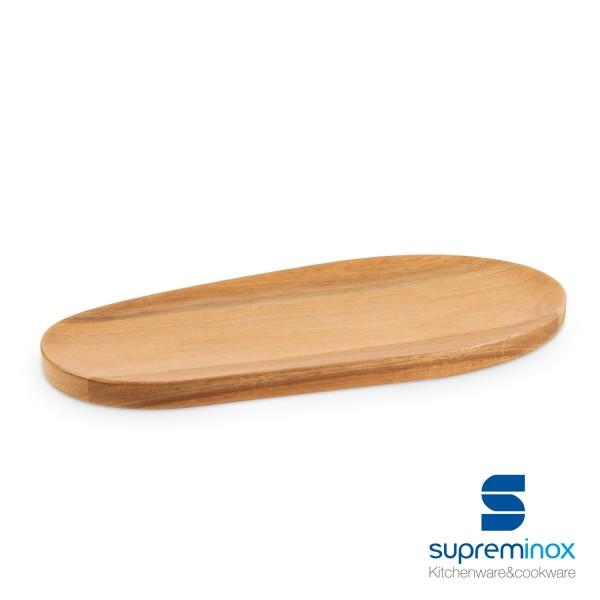 tablas de madera acacia ovaladas