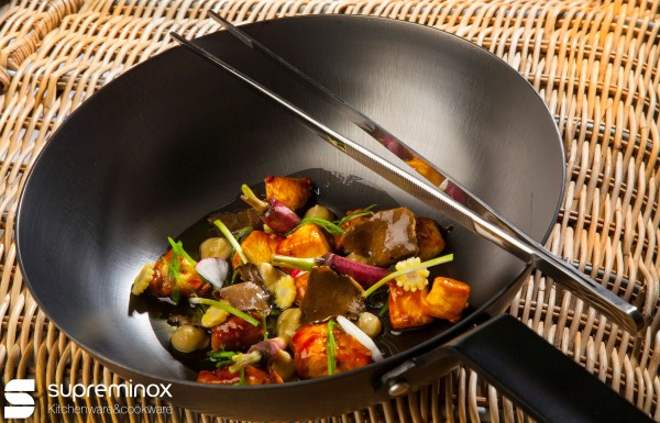 wok hierro inducción
