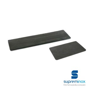 rectangular natural slate serving plates / platters