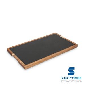 slate & acacia wooden board