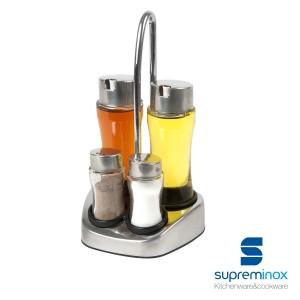 non-drip oil & vinegar set vela 4 pieces