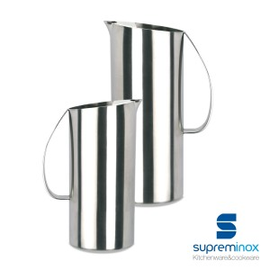 oval water jug stainless steel 18/10