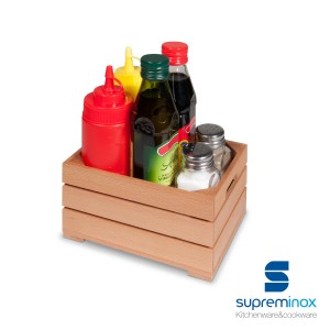small wooden fruit box - food display
