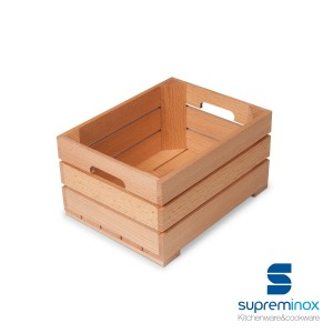 small wooden fruit crate - food display