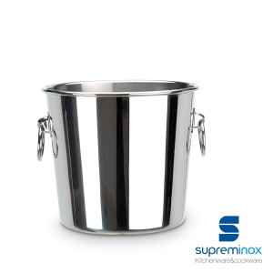 wine bottle cooler bucket stainless steel 18/10 luxe