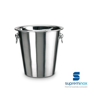 champagne ice bucket cooler stainless steel with handles