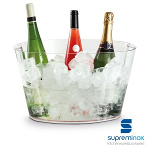 acrylic ice buckets & wine coolers for 9 bottles