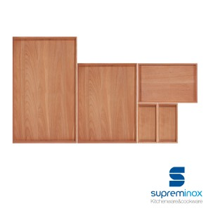 wooden beech serving board