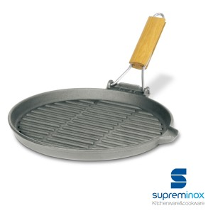 round grill pan with folding handles induction