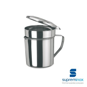 fat pot stainless steel for meat and fish