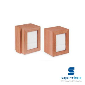 napkin holder with menu beech wood
