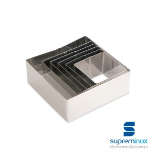 square food ring molds - pack 6 u.