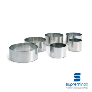 round food ring molds 6 cm. stainless steel