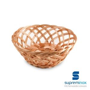 round poly-rattan basket braids