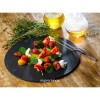 round natural slate serving plates / platters