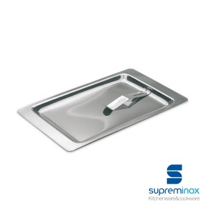 rectangular tip tray with bill clip stainless steel