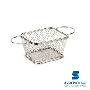 square fryer serving basket chip with handles