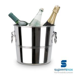 wine bottle cooler bucket stainless steel 18/10 design luxe