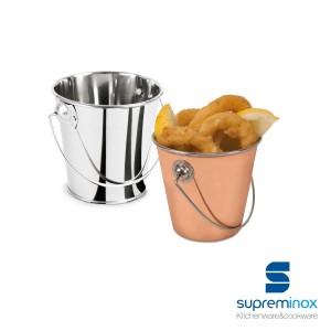 mini tin serving bucket