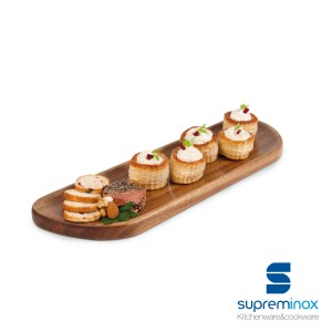 acacia wood serving board oval