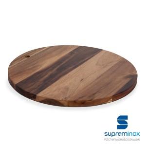 acacia wood serving board round