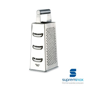 4 sided grater stainless steel with ergonomic handle