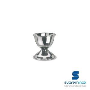 egg cup stainless steel with raised rim