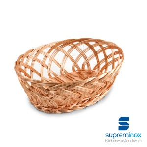 oval poly-rattan basket braids