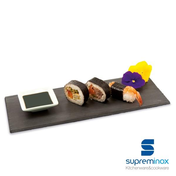rectangular natural slate serving plates / platters