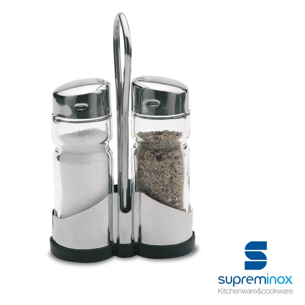 salt and pepper set 2 pieces stainless steel