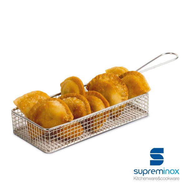 rectangular fryer serving basket chip