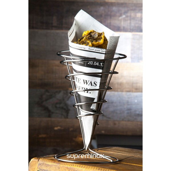 metal chip cone stand