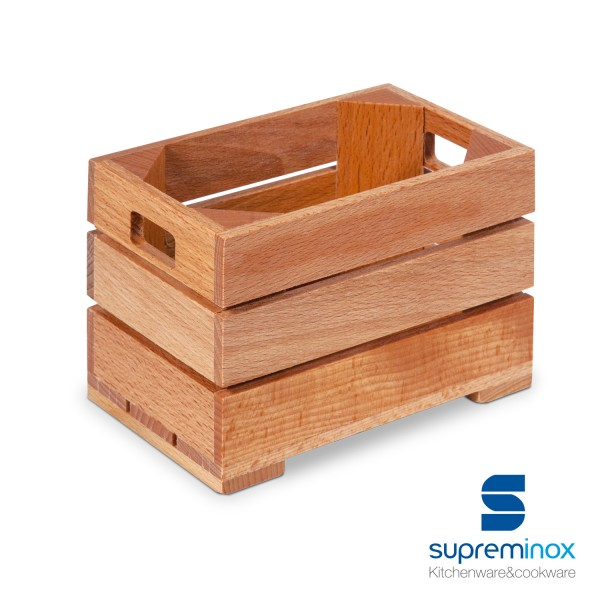 mini wooden fruit crate
