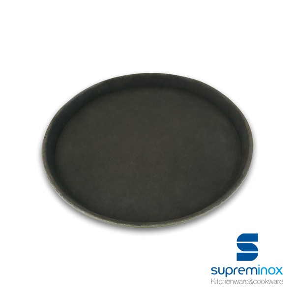round non-slip fiber glass tray