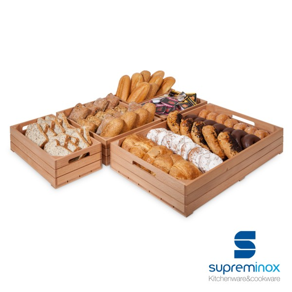 Wooden Box Food Display For Catering Supreminox