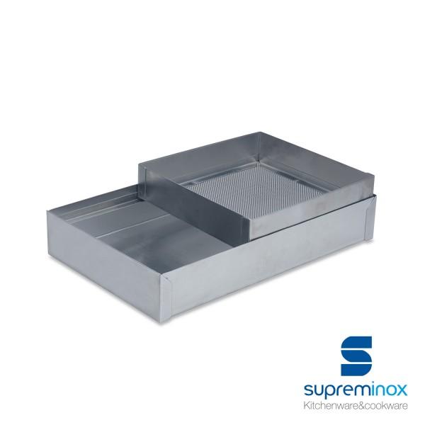 low flour bin stainless steel