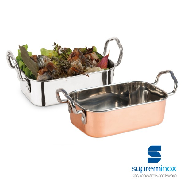 mini roasting dish stainless steel