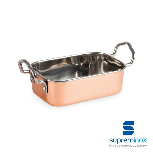 mini roasting dish stainless steel