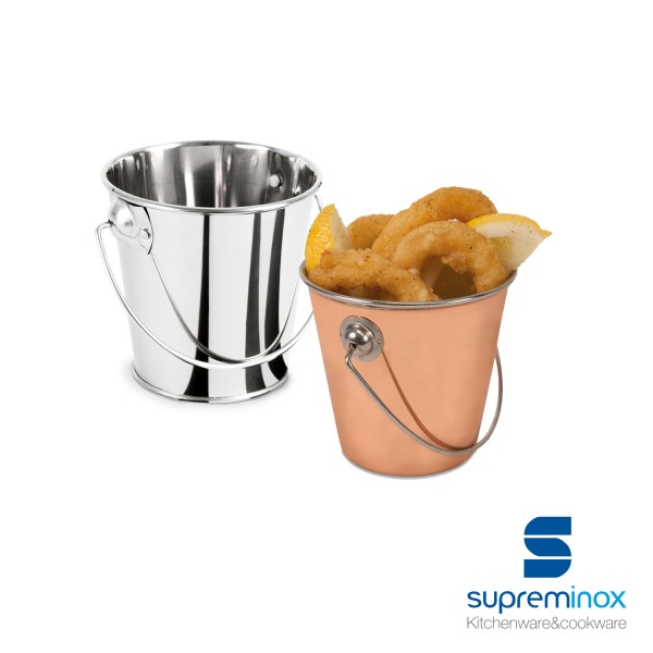 mini tin serving bucket