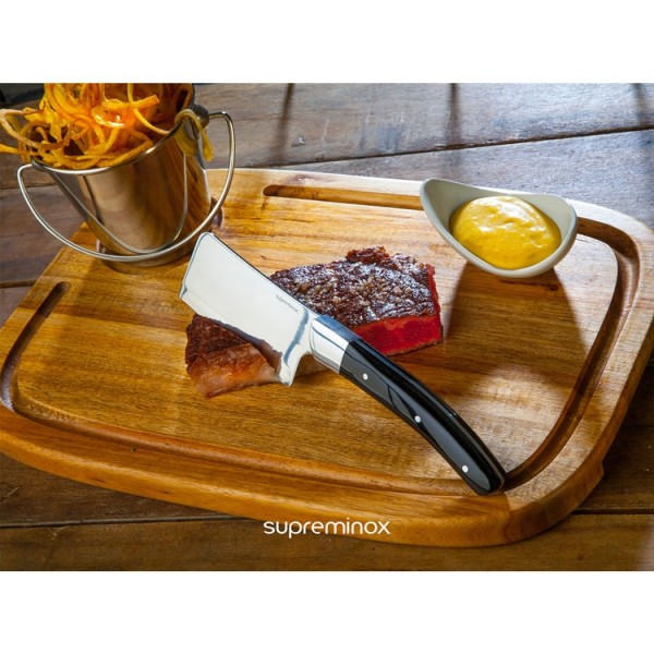 acacia wood serving board with tray