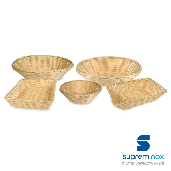 oval poly-rattan basket laminated