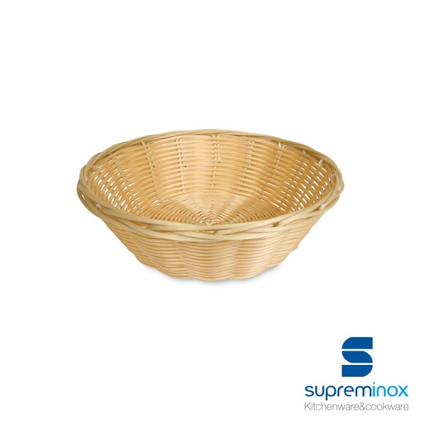 round poly-rattan basket laminated