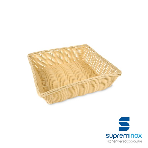 square poly-rattan basket laminated
