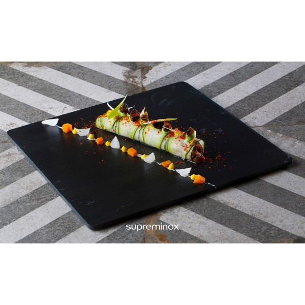 square natural slate serving plates / platters