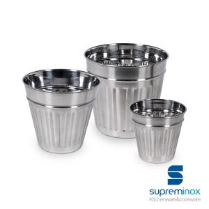 mini pots frites inox